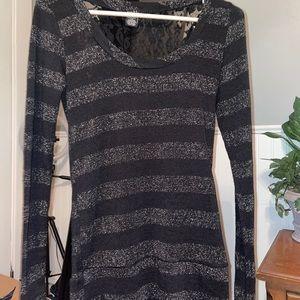 {RUE 21} Striped Back Lace Dress Top